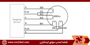 نقشه استپ موتور Leadshine 86HS45