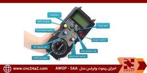 اجزای ریموت وایرلس مدل AWGP - 5AA
